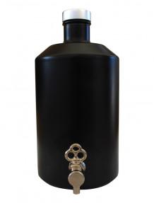 Boccioni 1 litro vetro nero con rubinetto